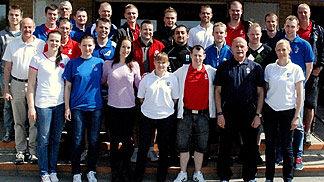 Alan Richardson with national instructors and referees at Nordic Cup 2012